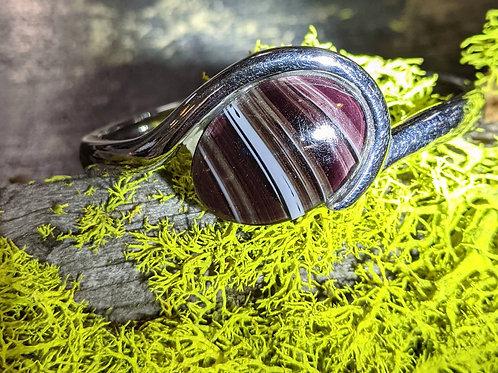 Purple Slag Glass Cuff