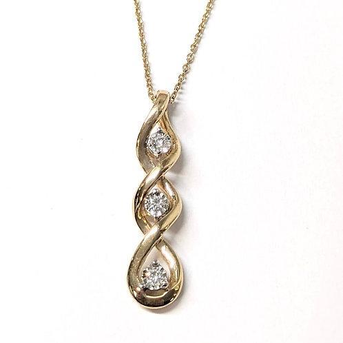 Triple Diamond Infinity Necklace