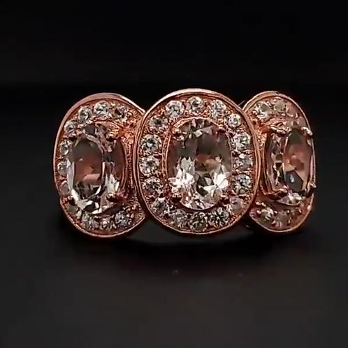 Rose Gold Over Sterling Silver Morganite Ring