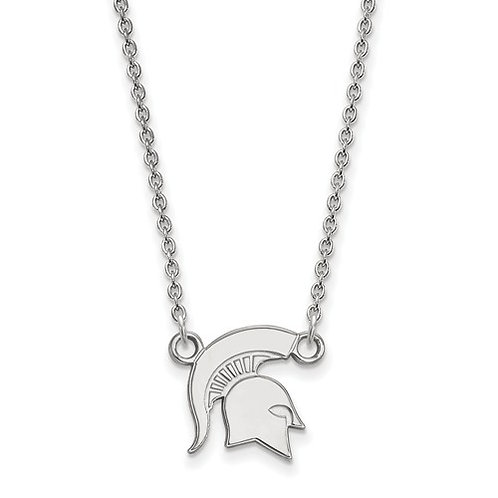Sterling SIlver Michigan State Spartan Necklace