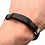 Thumbnail: Inox Brown Braided Leather Steel Clasp Bracelet