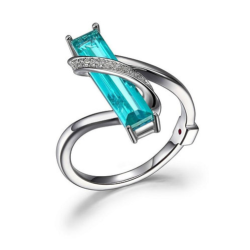 Revolution Ring Aqua Quartz