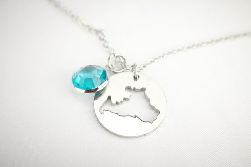 Stainless Steel Cut Out Drummond Island Pendant