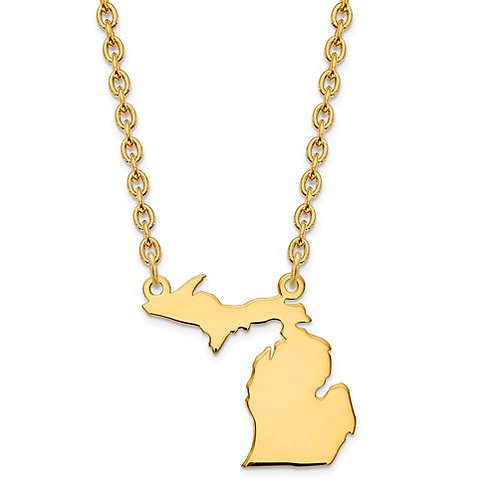 14kt Yellow Gold Michigan Necklace