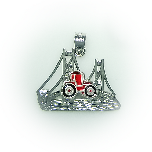 Tractor Cut-Out Bridge Pendant