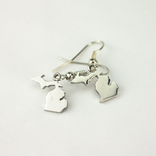 Stainless Steel Michigan Dangle Earrings