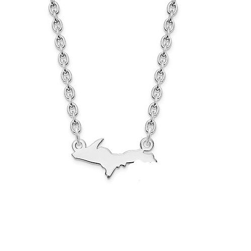 Sterling Silver Upper Penninsula Necklace