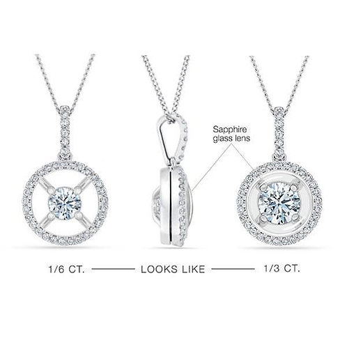 DIAMOND HALO MAGNIFICENCE  DIAMOND NECKLACE