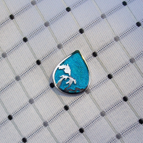 Great Lakes Great Enamel Tie Tack