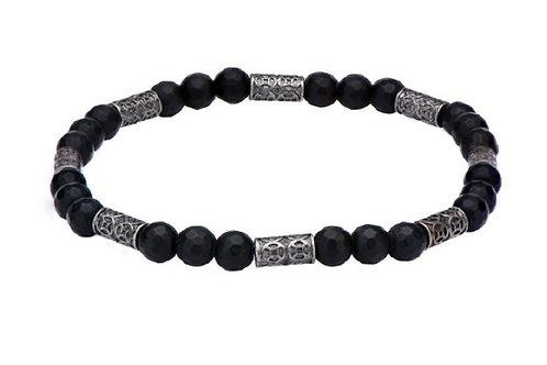 Stainless Steel Beaded  Men's Bracelet