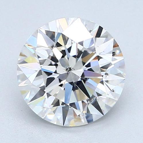 2.07ct  Natural Round Brilliant Cut Diamond