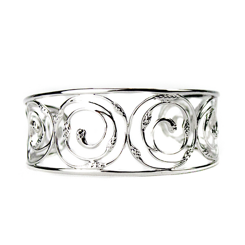Great Lakes Water Drop Spiral Cuff Bracelet