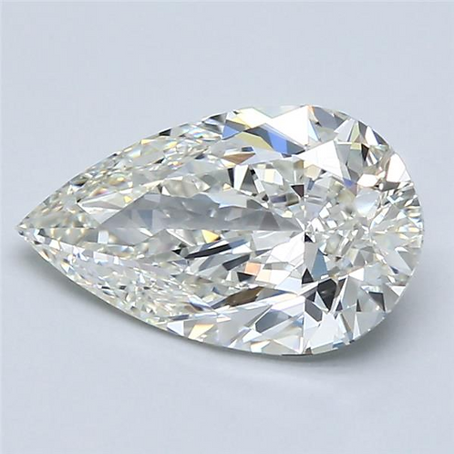 2.11ct  Natural Pear Cut Diamond