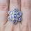 Thumbnail: Tanzinite Flower Ring