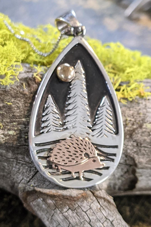 Hedgehog in the Woods Necklace