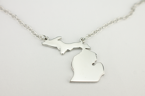Stainless Steel Michigan Necklace