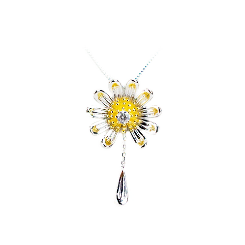 SMALL Loves Me Daisy Necklace