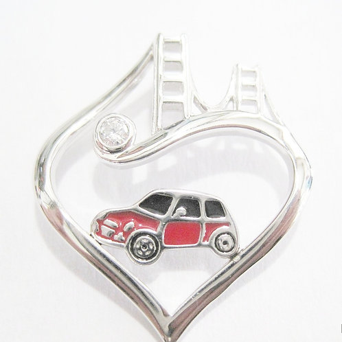 Tower Bridge to Her Heart Mini Necklace