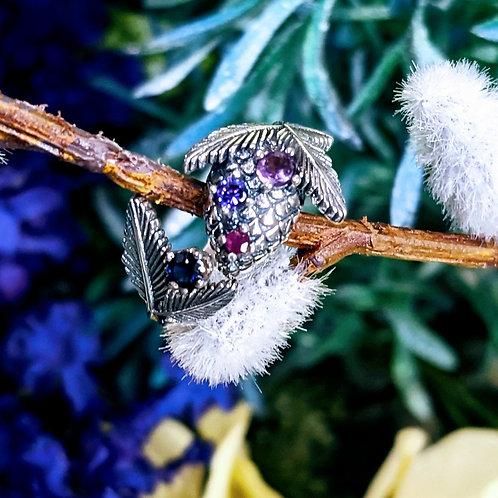 BIRTHSTONE  Pine Cone Ring