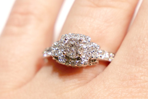 14kt White Gold Carriage Ring 1.13ct TW