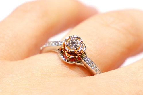 14kt Two-Toned Gold 1/3ct TW