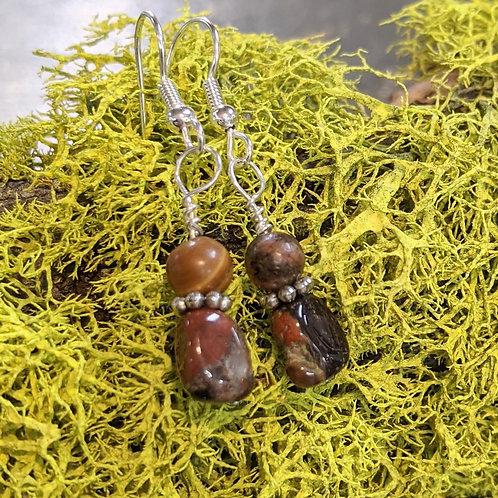 Puddingstone Dangle Earrings