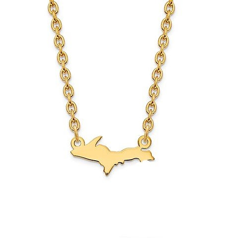 14kt Yellow Gold  Upper Michigan Necklace
