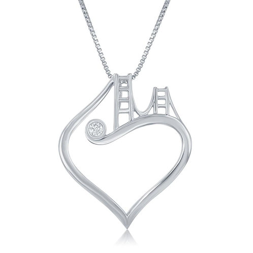 Bridge to Her Heart Tower Pendant