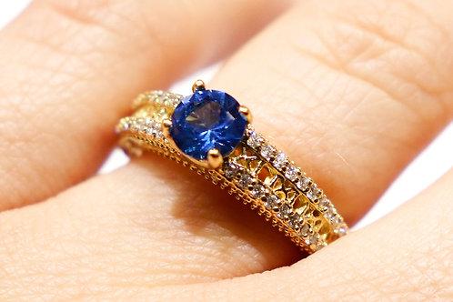 10kt  Gold Diamond Bridge Ring