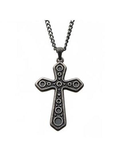 Circular Design Cross Pendant with Chain