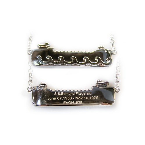 Sterling Silver Edmund Fitzgerald Necklace