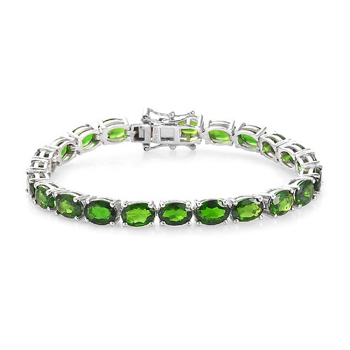 12ct TW Genuine Chrome Diopside Gemstone Bracelet