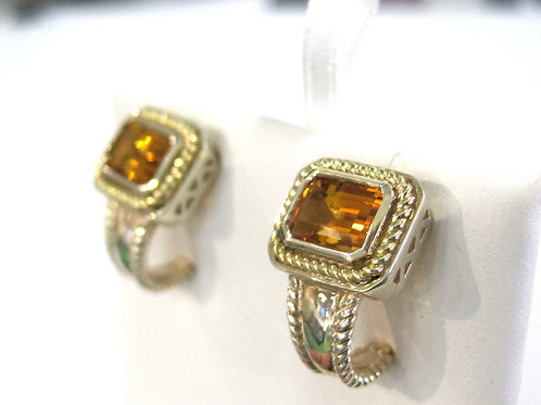 Sterling and Citrine Earrings