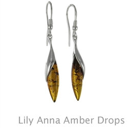 Amber Earrings: Lily Anna Drops