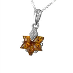 Amber Honeycomb Pendant