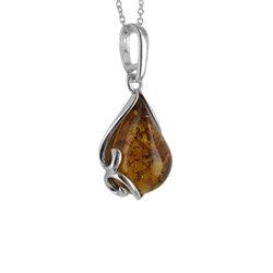 Amber Paisley Pendant