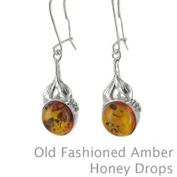 Amber Earrings: Old Fashioned Honey Drops