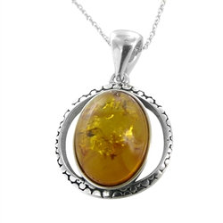Solstice Honey Amber Pendant