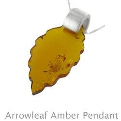 Amber Arrowleaf Pendant