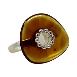 Amber Ring: Freeform Size 7 only