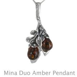 Amber Mina Duo Pendant