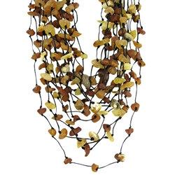 Amber Bead Necklace: Rustic Mermaid's Net
