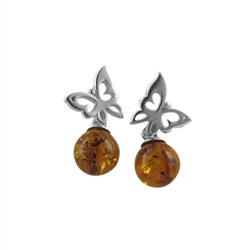 Amber Earrings: Butterfly Kiss Amber Drops