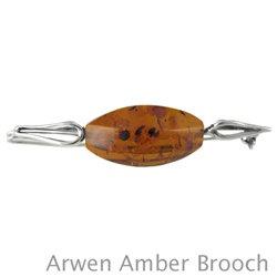 "Amber Brooch: ""Arwen"""