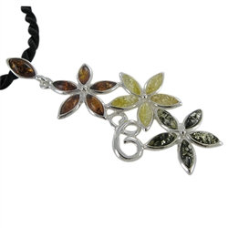 "Amber ""Daina"" Floral Pendant"
