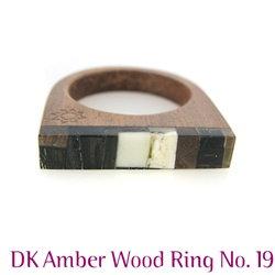 Amber Ring: DK Mosaic & Wood Ring