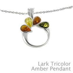 "Amber Pendant in Tricolor: ""Lark"""