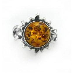Amber Ring : Helios Sunflower in Honey