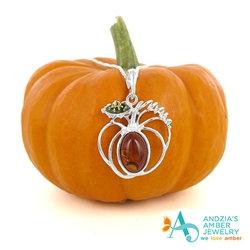 Amber Pumpkin Pendant