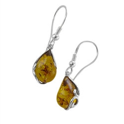 Amber Earrings: Paisley